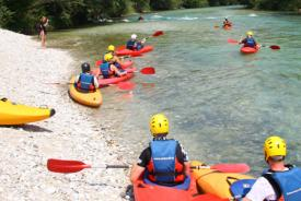 Kayaking – a fantastic activity in Bled surroundings, Slovenia