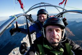 Powered paragliding - an exciting activity in Bled surroundings, Slovenia