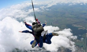 Skydiving zemlja