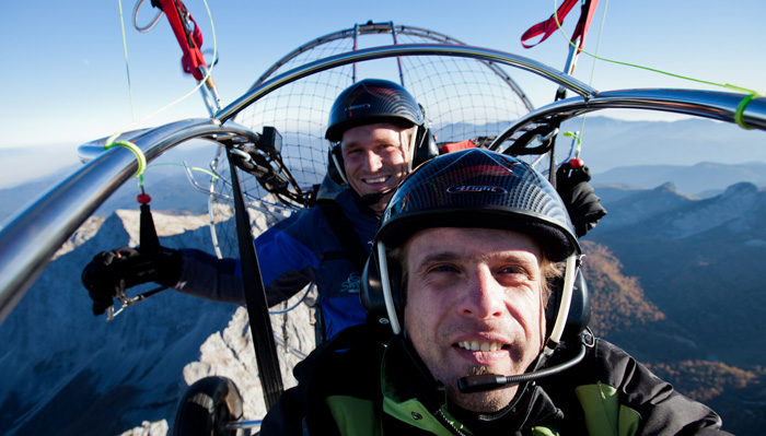 powered paragliding v